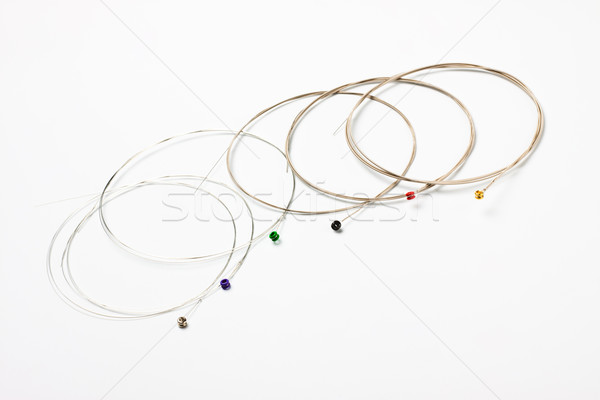 guitar nickel strings Stock photo © PetrMalyshev