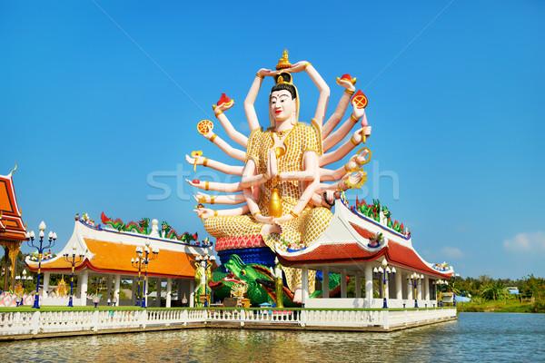 Groot standbeeld Blauw bidden eiland asian Stockfoto © PetrMalyshev