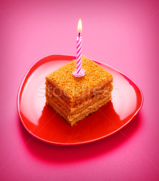 Birthday Cake Stock photo © PetrMalyshev