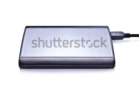 Hdd izolált fehér fém fekete fotó Stock fotó © PetrMalyshev