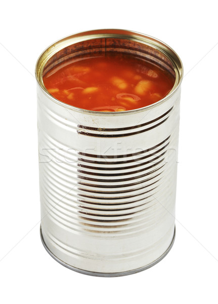 Opened Tincan With Beans Stock photo © PetrMalyshev