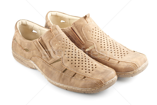 Beige Suede Shoes Stock photo © PetrMalyshev
