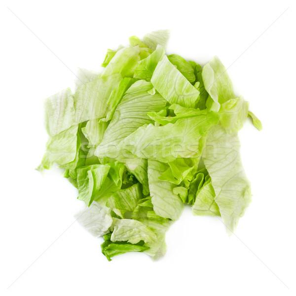 зеленый айсберг Салат свежие частей изолированный Сток-фото © PetrMalyshev