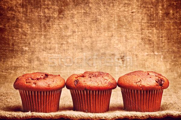 Chocolate Chip Muffin Stock photo © PetrMalyshev