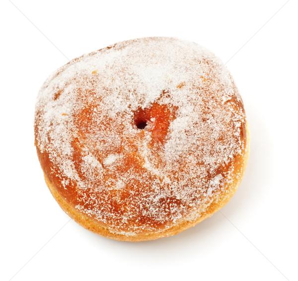пончик сахарная пудра Top мнение завтрак жира Сток-фото © PetrMalyshev