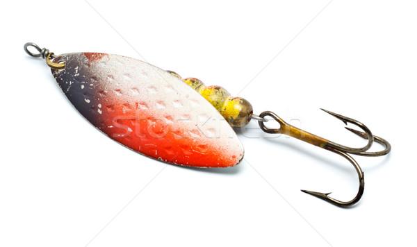 пластиковых рыбалки изолированный белый рыбы Сток-фото © PetrMalyshev