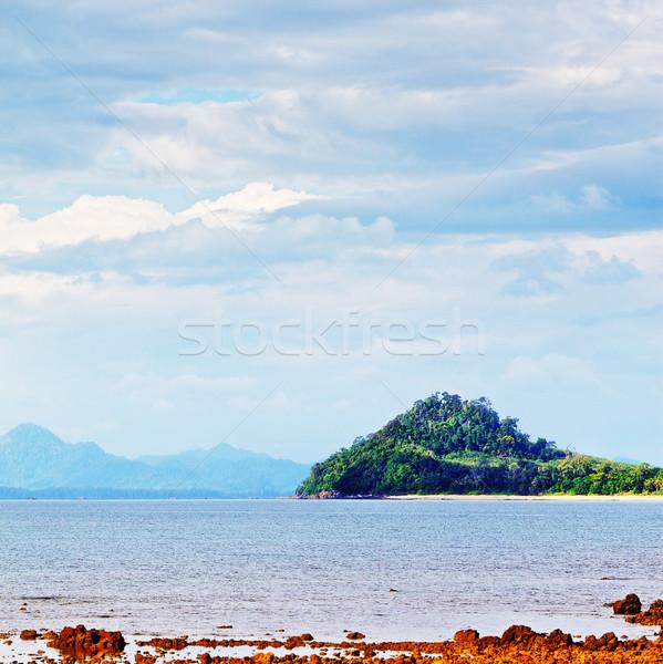 Mare shore tropicali paesaggio marino Thailandia cielo Foto d'archivio © PetrMalyshev