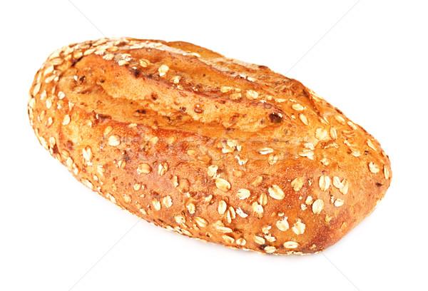 Teljes kiőrlésű kenyér diók izolált fehér kövér Stock fotó © PetrMalyshev