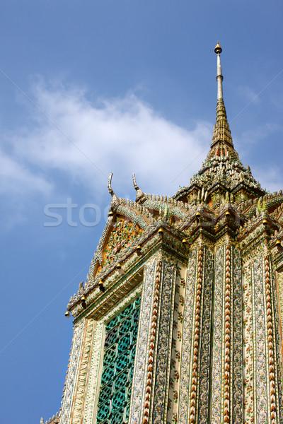 Tapınak şafak Bangkok Tayland manzara arka plan Stok fotoğraf © PetrMalyshev