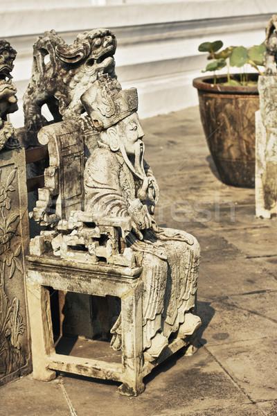 статуя каменные Бангкок Таиланд человека искусства Сток-фото © PetrMalyshev