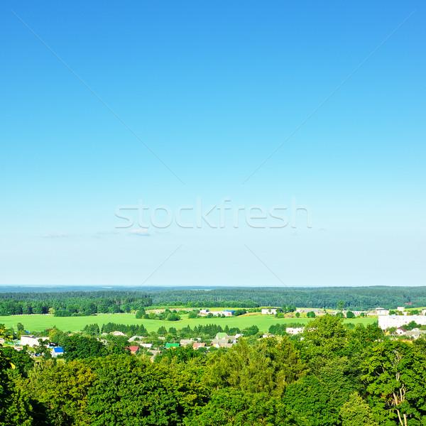 Magasról fotózva kilátás vidéki táj nyár nap ház Stock fotó © PetrMalyshev