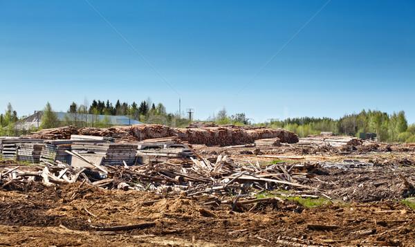 древесины склад дерево фон энергии Сток-фото © PetrMalyshev