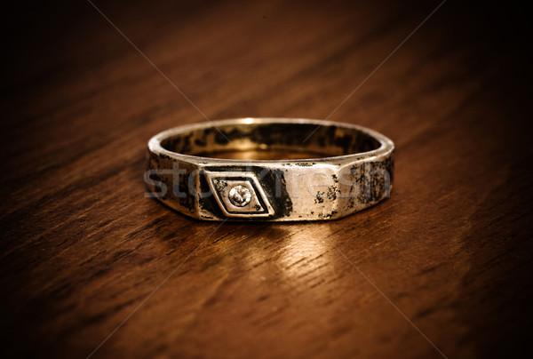 old silver ring Stock photo © PetrMalyshev