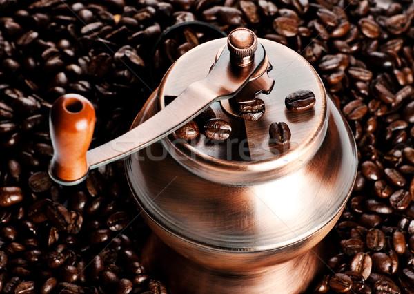Bağbozumu kahve değirmen fasulye siyah Stok fotoğraf © PetrMalyshev