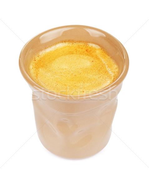 エスプレッソ カップ コーヒー オリジナル ブラウン 孤立した ストックフォト © PetrMalyshev