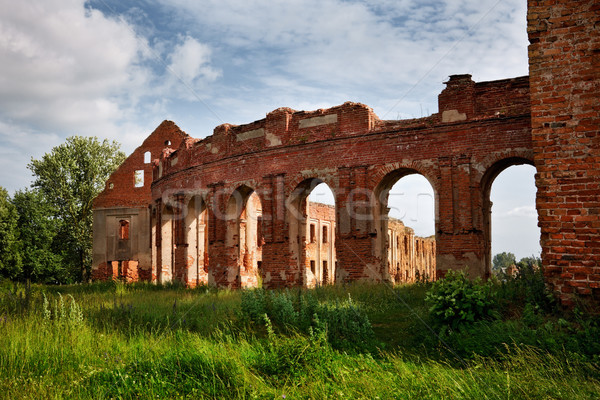 ruins of old castle Stock photo © PetrMalyshev