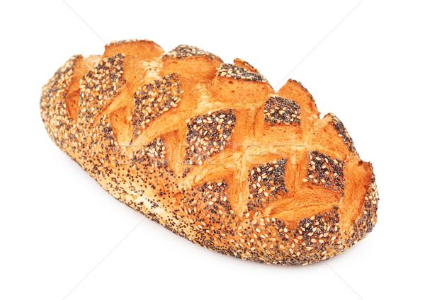 ストックフォト: 白パン · ケシ · 孤立した · 白 · 食品 · 写真