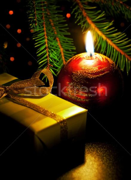 свечу шкатулке любви мяча красный Сток-фото © PetrMalyshev