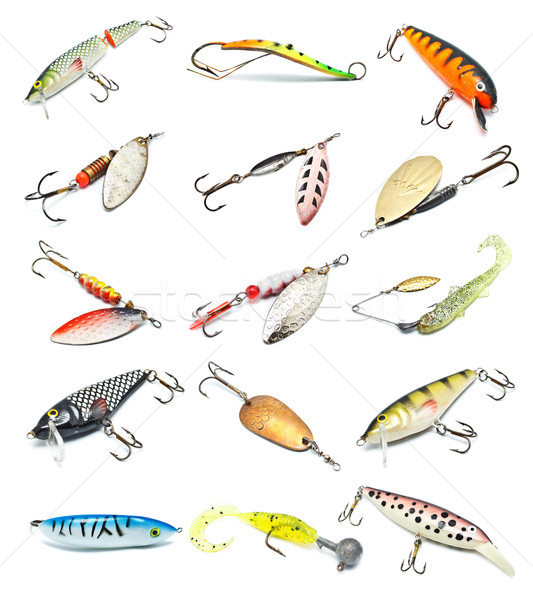 Fishing Baits Collection Stock photo © PetrMalyshev