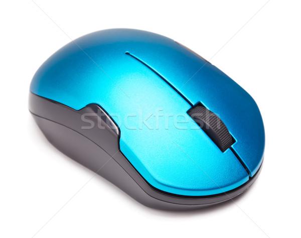 беспроводных Компьютерная мышь изолированный белый фон черный Сток-фото © PetrMalyshev