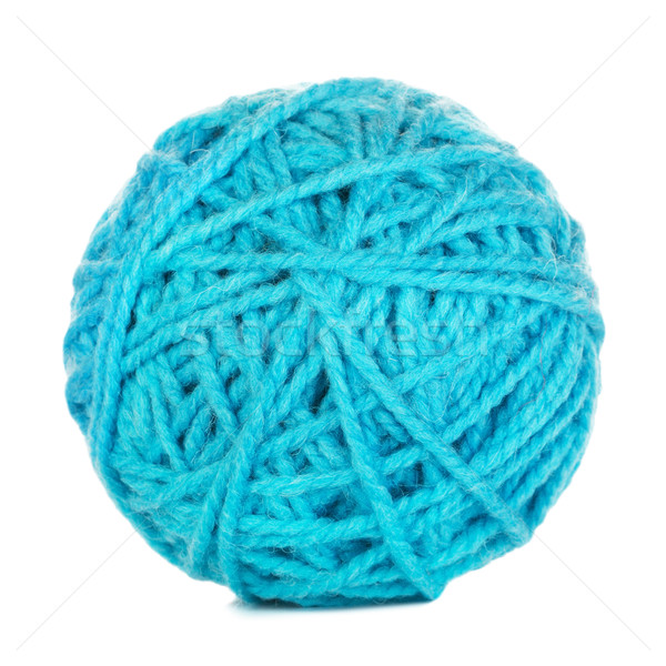 Cyan Yarn Ball Stock photo © PetrMalyshev