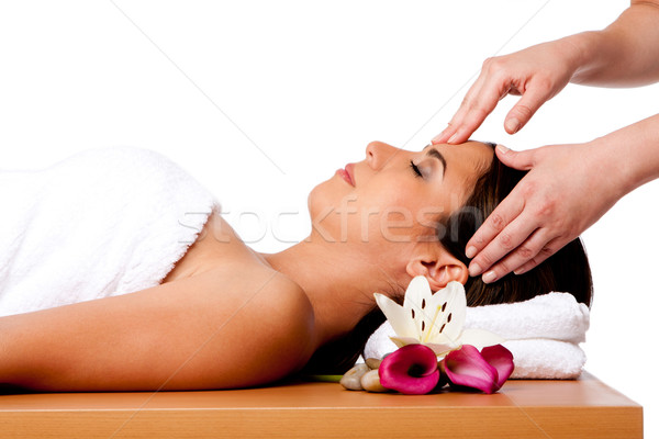 Massage spa belle heureux paisible dormir Photo stock © phakimata