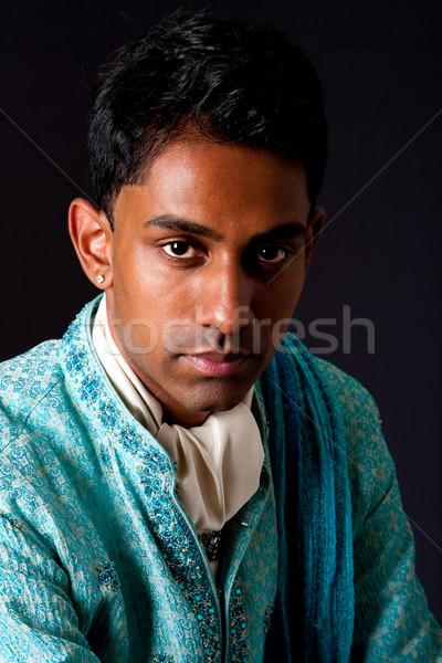 élégant homme belle visage indian jeune homme Photo stock © phakimata