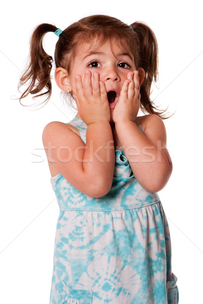 Surprised toddler girl Stock photo © phakimata