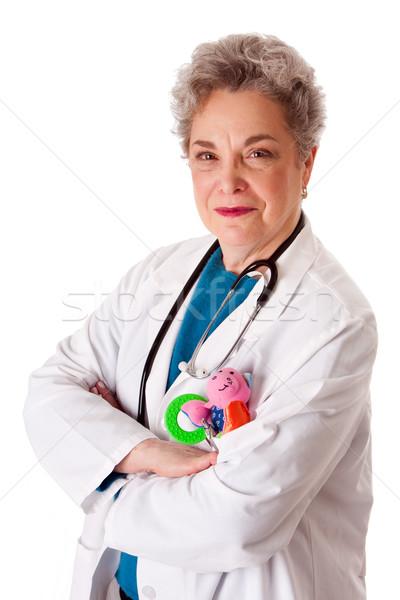счастливым дружественный педиатр врач медсестры красивой Сток-фото © phakimata