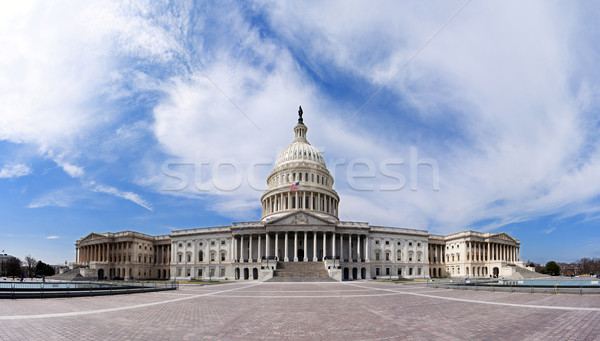Правительство здании широкоугольный Панорама Капитолий США демократ Сток-фото © phakimata