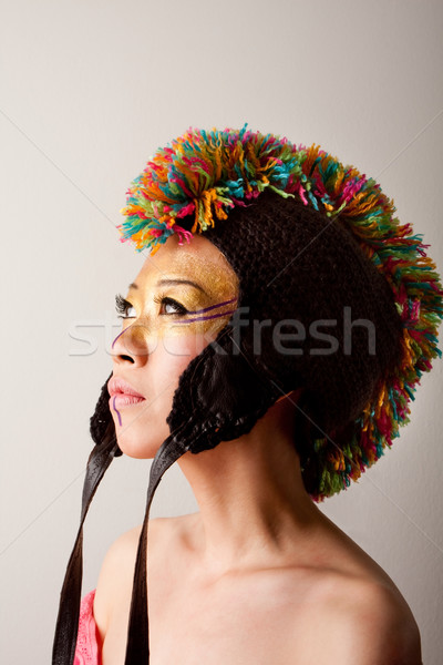 Colorful mohawk hat Stock photo © phakimata