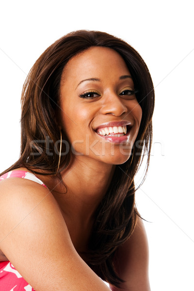 Smiling African woman face Stock photo © phakimata