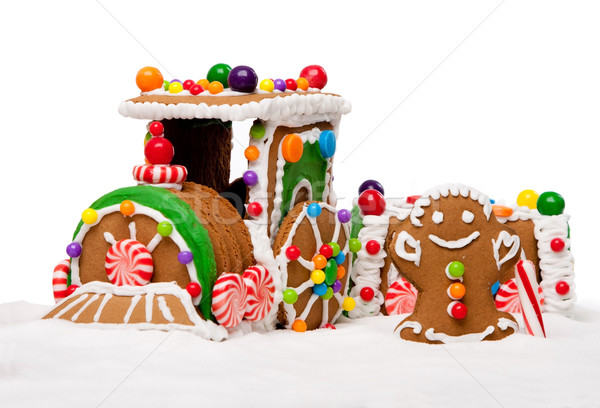 Winter Holiday Gingerbread Polar Express Train Stock photo © phakimata