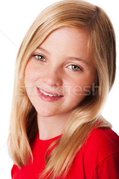 Visage heureux enfant belle souriant adolescent Photo stock © phakimata