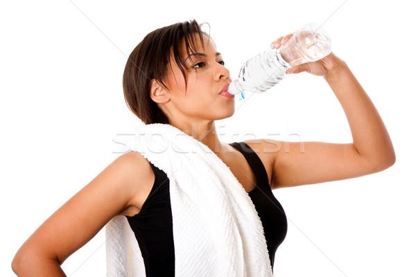 Rehydrating drinking water after workout Stock photo © phakimata