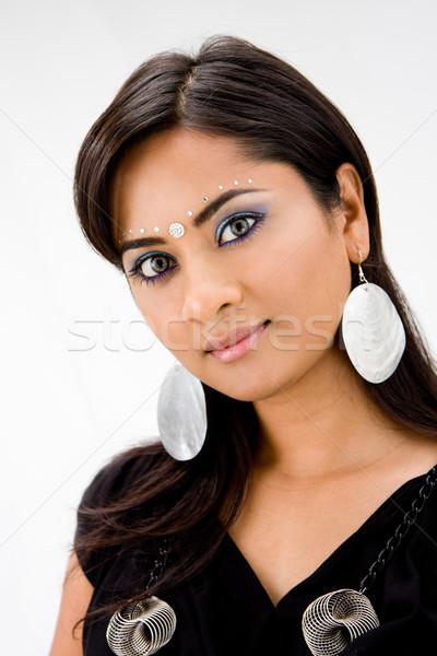 Gyönyörű nő gyönyörű nő lány divat szemek Stock fotó © phakimata