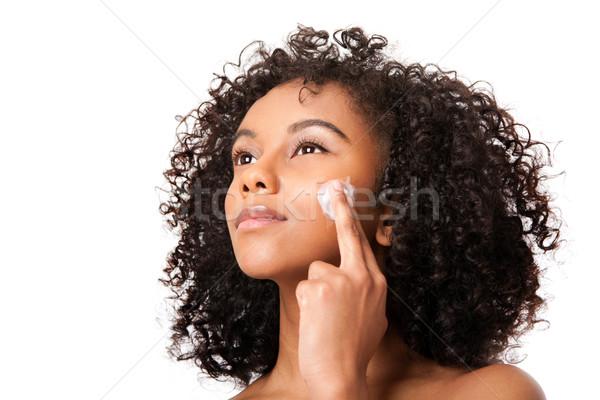 Stock photo: Exfoliating skincare