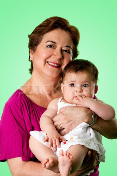 幸せ おばあちゃん かわいい 赤ちゃん 美しい シニア ストックフォト © phakimata