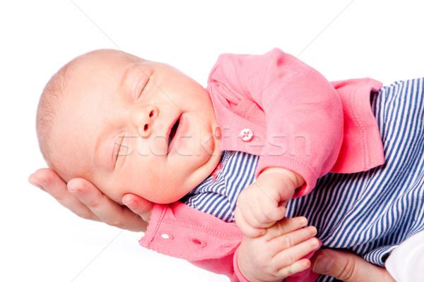 Cute bébé main heureux Photo stock © phakimata