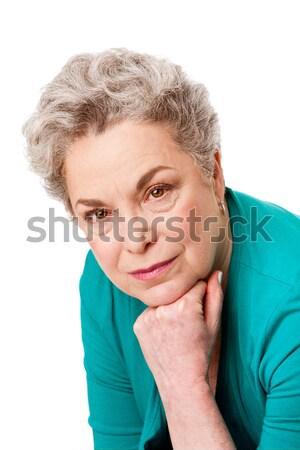 肖像 シニア 女性の顔 美しい 歳の女性 顔 ストックフォト © phakimata