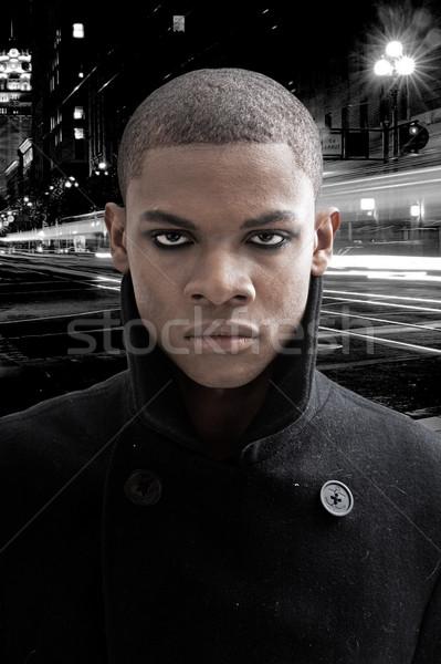African man on street Stock photo © phakimata