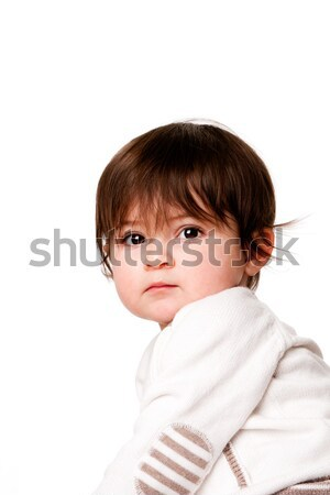 Foto stock: Cute · inocente · bebé · cara · adorable