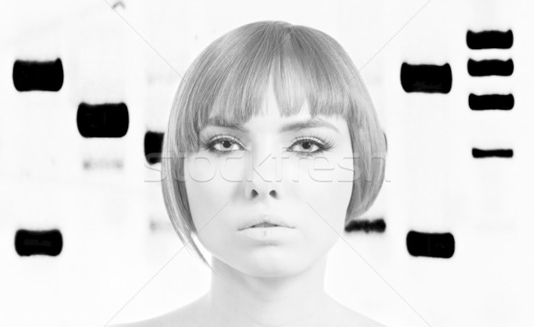 Bionic Woman with genetic profile Stock photo © phakimata