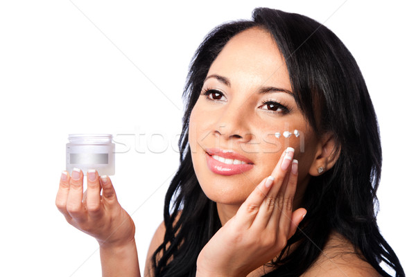 Facial beauty - skincare Stock photo © phakimata