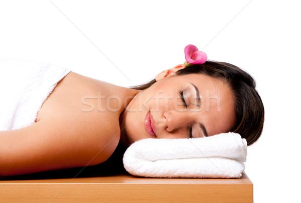 Beauté femme spa belle heureux paisible Photo stock © phakimata