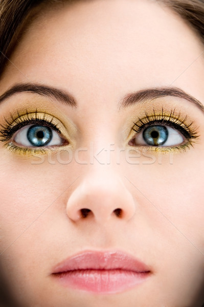 Bleu beauté visage belle femme yeux Photo stock © phakimata