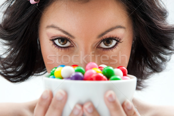 Candy girl Stock photo © phakimata