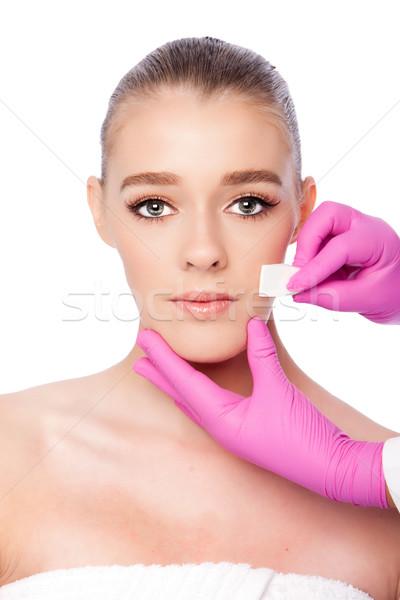 Cuidado de la piel spa hermosa cara cosméticos Foto stock © phakimata