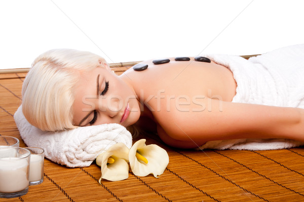 Lastone therapy at relaxing spa Stock photo © phakimata