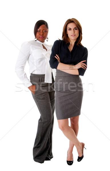 Schönen Business Frauen stehen Stock foto © phakimata